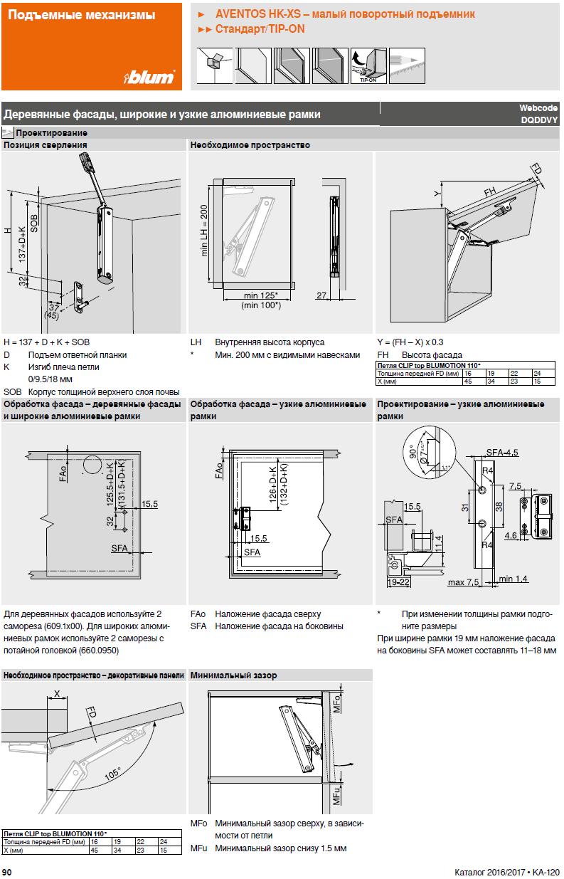 видео схема установки доводчик блюм