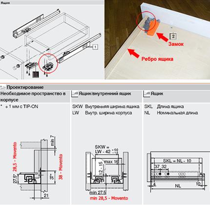 Инструкция blum tandembox