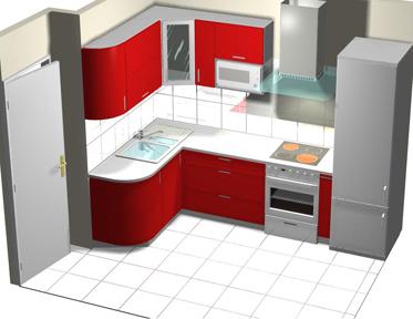 Дизайн кухни 8 кв.м фото-угловые