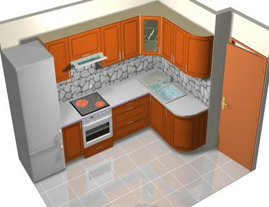 кухни угловые 12 кв.м фото